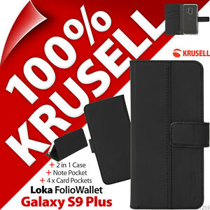 Krusell Loka Folio Wallet 2-in-1 Stand Case Cover for Samsung GALAXY S9 PLUS