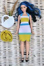 Curvy barbie clothes, Curvy barbie set of 3 items, dress, bag, scarf