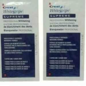 Crest Whitestrips Supreme Professional Whitening 6 Packets 12 strips