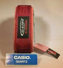 Original Casio G-shock Glide Burgundy Red Nylon Replacement Watch Band 23-24mm D