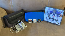 Nintendo 3DS XL Handheld Console Blue Bundle 5 Games + Case And 4GB SD Card