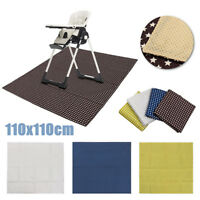 Baby High Chair Floor Mat Protector Mommys Helper Washable Splat Mat   UK AU1