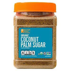 Organic Coconut Palm Sugar, Gluten-Free, Non-GMO Sweetener Substitute, 24...