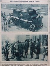 1917 US ARMY FIELD SERVICE KITCHEN AUTOMOBILE DINNER AND COFFEE SERVED WWI WW1