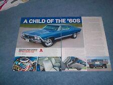 "1968 Chevelle SS396 Resto-Rod Article ""A Child of the '60's"" Super Sport 396"