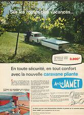 Publicité 1968  André Jamet  caravane pliante vacances camping