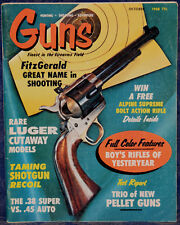 Magazine *GUNS* October 1968 !Rare LUGER Cutaway Models!, *38 SUPER vs. 45 AUTO*