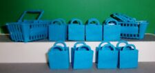 Shopkins BLUE SHOPPING BAGS & BASKETS LOT OF 10 Empty STOCKING STUFFER FREE SHIP