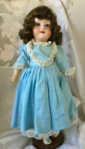 "Antique Armand Marseille Bisque Doll 390 II ~ DRGM 246 ~A 1 1/2 M~ 17""~Wood Body"