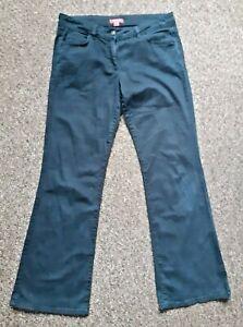 Monsoon Size 12 black Stretch Bootcut Jeans Mid-rise L30 Zip Closure