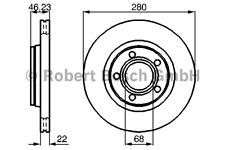 Disco de freno (2 trozo) - Bosch 0 986 478 869
