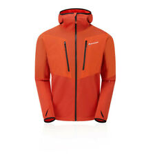 Montane Mens Alpha Balance Jacket Top Orange Sports Outdoors Full Zip Hooded