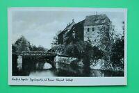 Bayern AK Lauf a d Pegnitz 1930er MFR Kaiser Wenzel Schloss Gebäude Brücke ++ (1