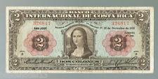 Costa Rica P-167 1932 2 Colones VF 20 Mona Lisa Leonardo da Vinci