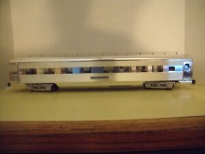 NEW, K-LINE CHROME OBSERVATION CAR, O SCALE, (R21)