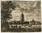 Antique Master Print-LANDSCAPE-Roghman-ca. 1670