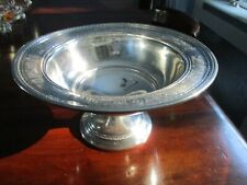 "Wedgwood  International Sterling 11.5"" Footed Centerpiece Compote T51"