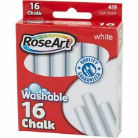 RoseArt Washable White Chalk - 16 Count . 2 Pack