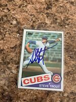 Steve Trout Signed 1985 Topps Auto Chicago Cubs