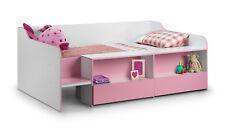 Julian Bowen Stella Childrens Low Sleeper Storage Bed Pink - 3ft Single 90cm