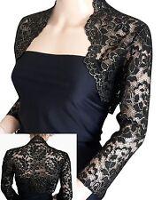 Womens Black/Silver or Black/Gold lace Jacket/Shrug UK sizes 8 to 18