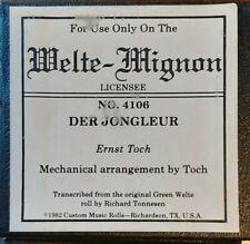 DER JONGLEUR WELTE RECUT REPRODUCING PIANO ROLL