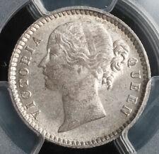 1840, India (British), Queen Victoria.Nice Silver 1/4 Rupee Coin. PCGS MS-63!