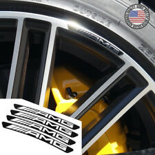 4x Mercedes AMG Edition Sport Wheels Badge 3D Sticker Logo Emblem Decoration