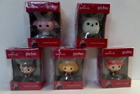 Hallmark Ornaments 2018 Harry Potter,Hermione,Ron Weasley,Dobby,Hedwig LOT 5 NEW