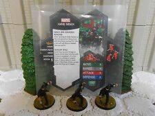 Heroscape Custom Hand Ninja Double Sided Card & Figures w/ Sleeve Marvel