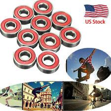 10Pcs/Set Roller Skate Skateboard Ball Wheel Bearing Abec-7 608zz Usa