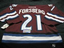 Peter Forsberg signed Authentic Hockey Jersey with COA in Excellent Condition!