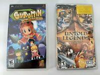 Sony PSP - 2 Games - Gurumin Monstrous Adventure & Untold Legends