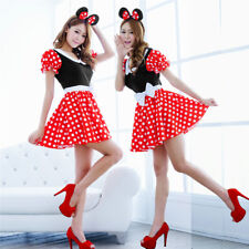 Sexy Christmas Minnie Mouse Disney Women Cosplay Costume Party Dress Up Outfits