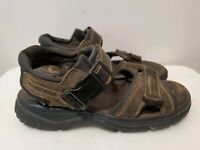 Thom McAn Active Wear Brown Leather Hiking Sandals W/ Hook & Loop for Men, 8M