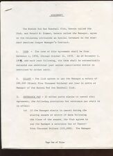 1979 Don Zimmer Boston Red Sox Manager Contract Signed by Haywood Sullivan