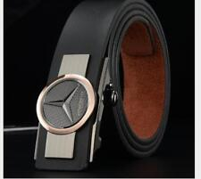 Luxury Mens Leather Belts Waistband Strap Automatic Buckle for Mercedes Cowhide