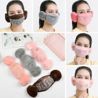Warm Earmuffs Warm Mouth Cycling Face Mask Ear Cover Ear Protectors Mouth Cover