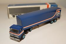 ± LION CAR DAF 2300 TRUCK WITH TRAILER FOKKER NEAR MINT BOXED
