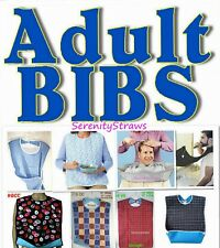 ADULT BIBS, Elderly, Caregiver, Beard Trimming, Hair Cutting, Protect Clothing