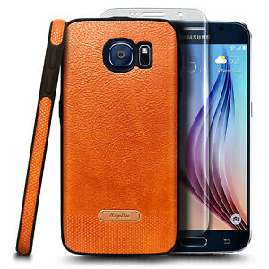 For Samsung Galaxy S6 Case Shockproof PU Leather Phone Cover + Screen Protector