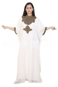 Try This New Moroccan Dubai kaftan Jalabiya Jilbab Arabic Hals Sleeve Fancy Wear