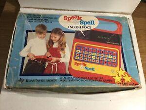 Vintage Speak And Spell Original Box Only