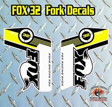 FOX 32 2014 FORK Adesivi Decalcomanie Grafiche mountain bike Down Hill MTB GIALLO