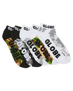 Globe Socks 5 Pack Malcom Ankle Camo SIZE 7-11 Skateboard Sox