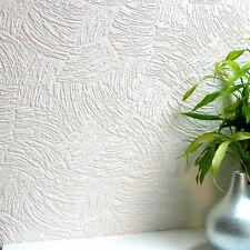 5019 Anaglypta Surf Wallcovering Luxury Textured Vinyl Paintable White Wallpaper