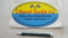Church Tackle trolling Decal Sticker Tackle Box Lure Fishing Boat Truck trailer