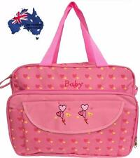 Nappy Changing Diaper Bag Waterproof Liners Mummy Shoulder Travel Bag-Pink