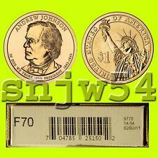 2011  - P   F70  President  Andrew Johnson Dollar Roll in Mint Sealed Box