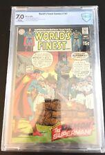 WORLD'S FINEST COMICS #187 CBCS 7.0 White 1969 Superman Batman DC Not CGC Worlds
